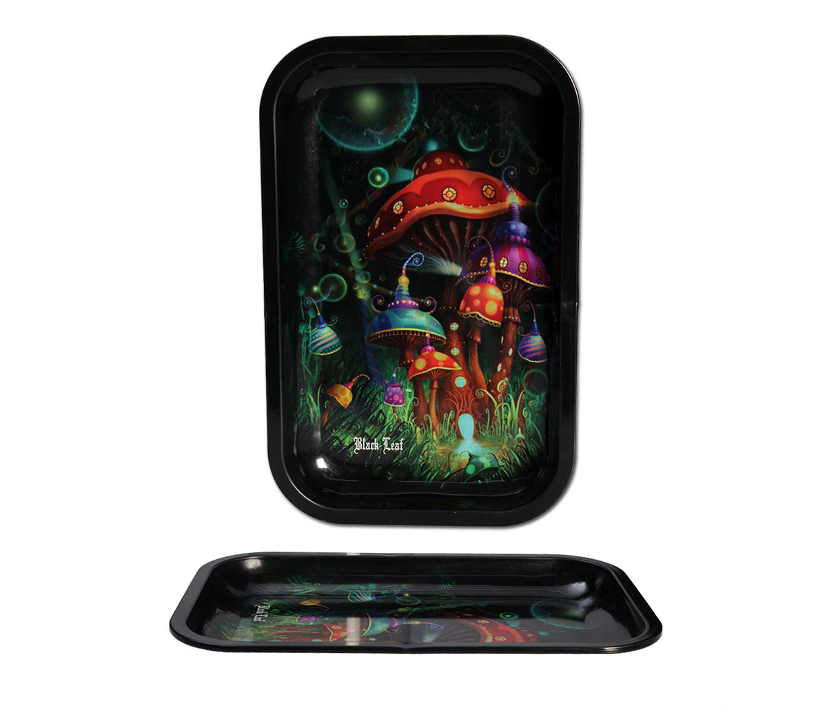 Black Leaf Rolling Tray 'Mushroom' Small