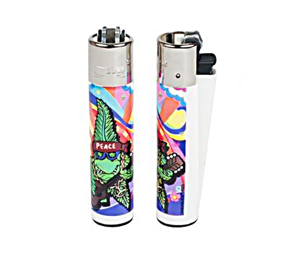 Cannabuds Clipper Lighter Peace Hippie - Waterpijp-bong.nl