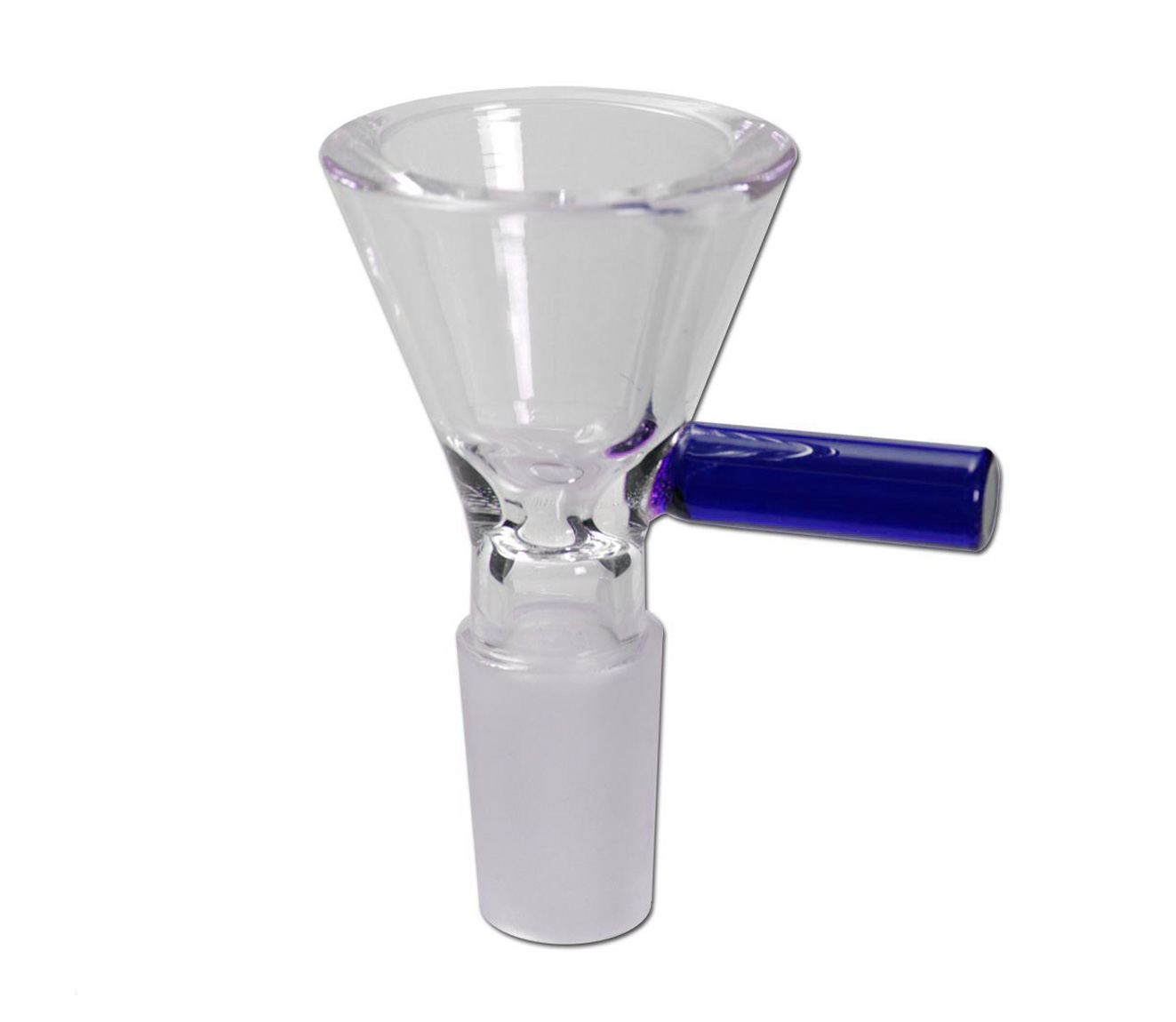 Glass Funnel Bowl with handle - Blauw - Waterpijp-bong.nl