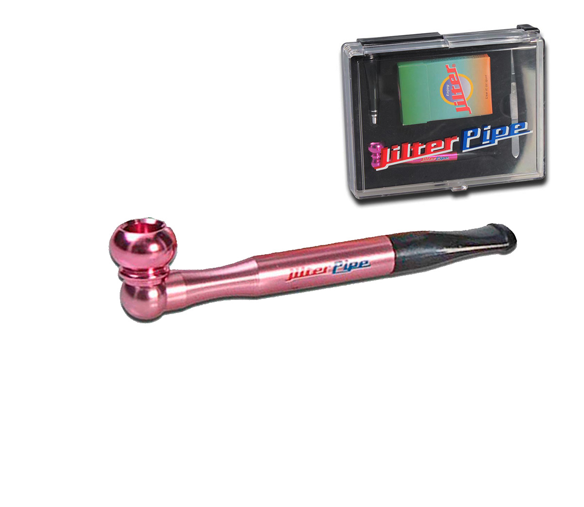 Jilter Pipe Pink - 1 Hit Smoking Pipe