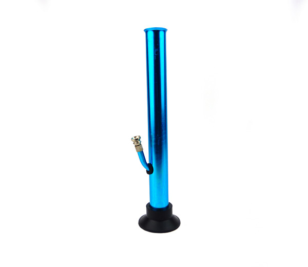 Coloured Metal Bong Large blauw