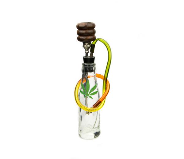 Rasta Bottle Glass Converter Bong