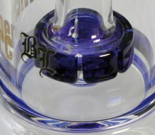 BL Microperc Oil Drum Percolator Bong Blue - Waterpijp-bong.nl