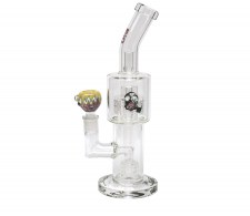 Bio Hazard Stemless Double Grid Percolator Bong