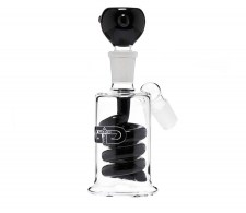 Black GG Spiral Percolator Precooler - Waterpijp-bong.nl