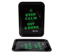 Black Leaf Mixing Tray 'Keep Calm...' - Waterpijp-bong.nl
