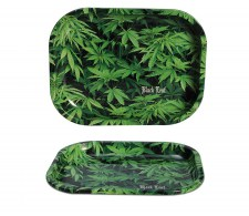 Black Leaf Rolling Tray 'Hemp' - Waterpijp-bong.nl