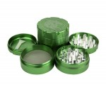 D-SMOKE HQ 4-Parts Grinder Green - Waterpijp-bong.nl