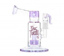 FourTwenty Saxo Purple Pink Bubbler Bong