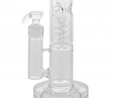 Grace Glass CRYSTAL Series Straight LED Spiral Perc Bong - Waterpijp-bong.nl