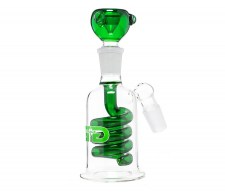 Green GG Spiral Percolator Precooler - Waterpijp-bong.nl
