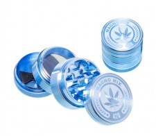Magno Mix Leaf 420 Grinder 4 Parts Blauw - Waterpijp-bong.nl