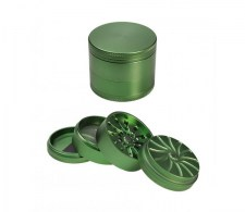 Masher Aluminium Grinder 4-part Green - Waterpijp-bong.nl