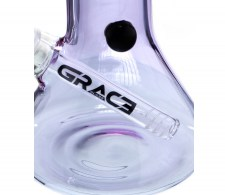 Purple Beaker Grace Glass Percolator Bong