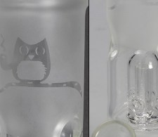 Smoking Owl Percolator Ice Bong Frost - Waterpijp-bong.nl