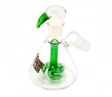 Thug Life Beaker Precooler with Spiral Percolator - Waterpijp-bong.nl
