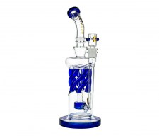 Tsunami Glass Twisted Showerhead Recycler Bong Blue - Waterpijp-bong.nl