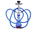 Junior Hookah Waterpijp Flame 2 slangen blauw