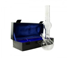 Sand Leaf Glass Ice Bong in koffer - www.waterpijp-bong.nl