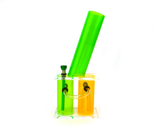 The Chamber Acryl Bong 33cm groen/orange