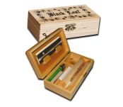 Black Leaf Stash Box Medium Hout