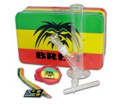 Breit Mini Bong Set met Grinder en Shotgun Pipe