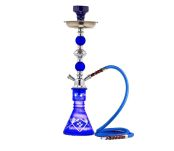 Crystal Hookah Blue Waterpijp 1 slang