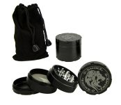 D-SMOKE HQ 4-Parts Grinder Black