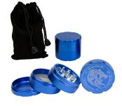 D-SMOKE HQ 4-Parts Grinder Blue