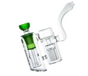 D-SMOKE Peace Seekah Double Perc Green Bubbler