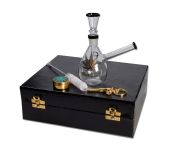Golden Black Leaf Drupal Bong Giftset