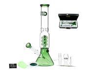Green Beaker GG Bong with Luxury leather Case