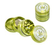 Magno Mix Leaf 420 Grinder 4 Parts Groen