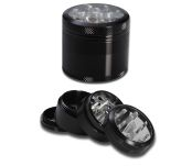 Sharpstone Alu. Grinder 4-part Black